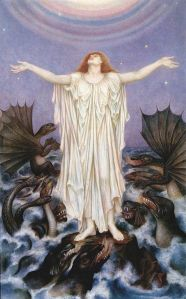 Save Our Souls (1914-16), by Evelyn de Morgan (1855-1919). Public domain image courtesy of WikiCommons.