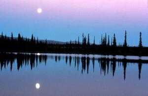 Moonscape over Water. Image courtesy of Public Domain Images.