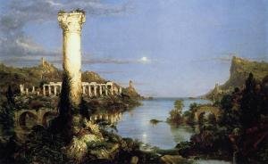 The Course of Empire Desolation, 1836, by Thomas Cole, Hudson River School Painters. Public domain image courtesy of Wikimedia.