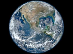 The 'Blue Marble' ... our living, vibrant planet Earth, as seen from space. Public domain image courtesy of NASA.