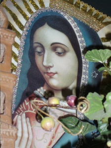 The Virgin of Guadalupe at a wee local restaurant near Asilomar, CA, in 2007. Photo by Sophia's Children blog keeper, Jamie Walters.