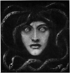Medusa, 1892, by Franz Stuck. Image courtesy WikiPedia.