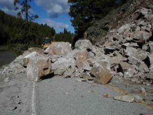 Rocks slides block the road after heavy rains [Idaho Reporter]