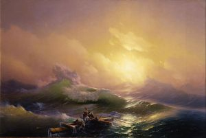The Ninth Wave, 1850, Ivan Konstantinovich Aivazovsky (1817-1900). Image courtesy WikiMedia.