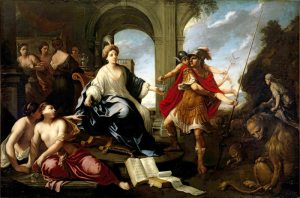 Circe and Odysseus, by Pier Francesco Cittadini (Italian, 1616–1681). Public domain image courtesy of WikiMedia.