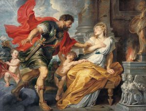Mars and Rhea Silvia, 1617, by the great Flemish Baroque painter, Peter Paul Rubens (1577-1640).