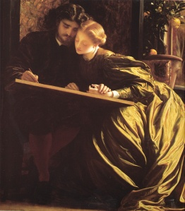 The Painter's Honeymoon, 1864, by Frederick, Lord Leighton. Public domain image from WikiMedia.