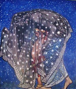 Illustration from the Garden of Kama, 1914, by John Byam Liston Shaw. Public domain image courtesy of WikiMedia.