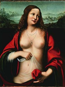 Mary of Magdala, by Leonardo da Vinci. Public domain image courtesy of Wikipedia.