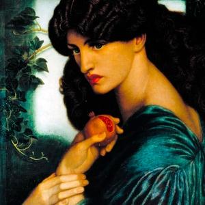 Proserpine (Persephone), 1874 by Dante Gabriel Rossetti. Public domain image courtesy of Wikimedia.
