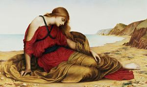 Ariadne in Naxos, 1877, by Evelyn Pickering De Morgan. (Images courtesy of Wiki-Commons)