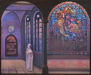 Glory to the Hero, 1933, by Nicholas Roerich. Roerich Museum, NY, NY. www.roerich.org.