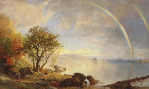 Dawn of Morning, 1868, by Jasper Cropsey, Hudson River School Painters. Public domain image.
