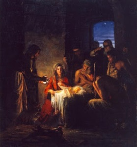 The Nativity by the Danish Artist Carl Heindrich Bloch (1834-1890).