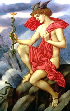 Mercury, 1870-1873 by Evelyn de Morgan. Public domain image courtesy of Wikimedia.