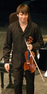 Joshua Bell at Indiana University MAC with Jeremy Denk, February 10, 2008. Creative Commons image via Wikimedia.