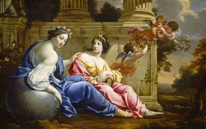 The Muses Urania and Calliope, 1634, by Simon Vouet. Public domain image courtesy of Wikimedia.