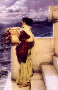 Hero, 1898, by Sir Lawrence Alma-Tadema. Public domain image courtesy of Wikimedia.