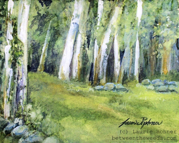 watercolor illustration by Laurie Rohner
