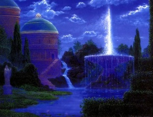"Copyright - ""Fountain of Renewal"" by Gilbert Wiliams Fountain of Renewal, by Gilbert Williams. Image used with permission from Mr. Williams."