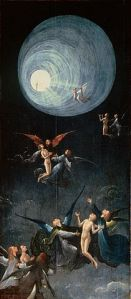 The Ascent of the Blessed, by Hieronymus Bosch (1450-1516), in the Palazzo Grimani, Venice. Public domain image via Wikimedia.