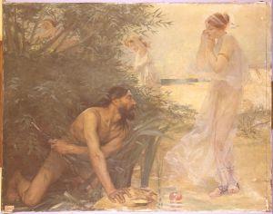 Jean Veber, Ulysse et Nausicaa, 1888, Paris, Ecole Nationale Supérieure des Beaux-Arts