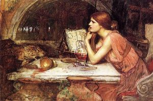 Circe the Seer, 1911-1914, sketch by John William Waterhouse. Public domain image courtesy of Wikimedia.