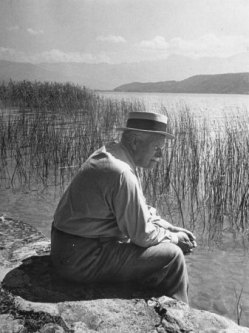 Carl Jung at Lake Zürich. Photo by Dmitri Kessel (1902-1995) for LIFE Magazine c. January 1984.