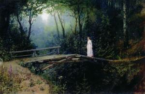 A favorite image: Rafael Sergei Levitsky's Bridge in the Woods. Public domain - {PD-US}.