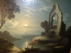 Study in Moonlight by Abraham Pether (1756-1812). PD-US.