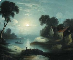 Moonlit Scene with Fishermen, by Abraham Pether (1756-1812). PD-US.