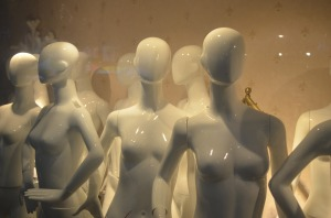 Faceless mannequins. Image courtesy of Public Domain Images.