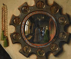 Detail from The Arnolfini portrait by Jan van Eyck. Photo courtesy Wikimedia.