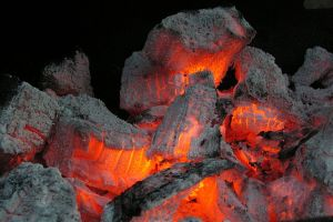Burning embers, by Jens Buurgaard Nielsen. CC-SSA via Wikimedia.