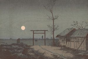 Before Tarō Inari Shrine at the Asakusa Ricefields, 1881, by Kobayashi_Kiyochika. PD-US.