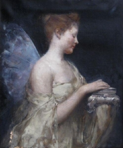Psyche, 1890, by John Reinhard Weguelin. PD-US.