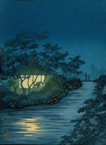 River of Fire Flies, by Kobayashi Kiyochika. PD-US.