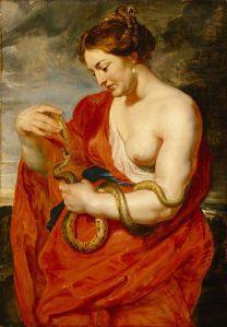 Hygeia, 1615, by Peter Paul Rubens. Prague, Lobkowicz Palace. PD-US, Wikimedia.