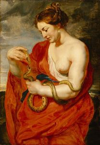 Hygeia, 1615, by Peter Paul Rubens. Prague, Lobkowicz Palace. PD-US, Wikimedia.