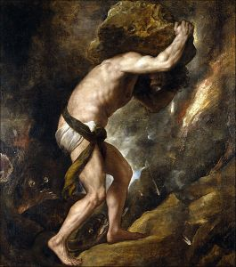 Sisyphys's Punishment (1548–49) by Titian, Prado Museum, Madrid, Spain