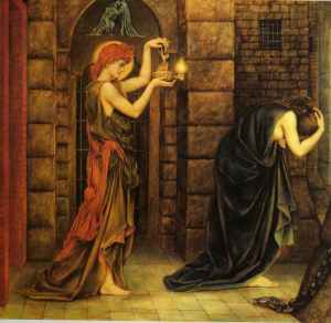 Hope in a Prison of Despair, 1887, by Evelyn Pickering de Morgan. PD-US.