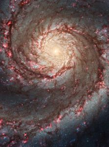 Spiral Galaxy, M51. Hubble-NASA. PD-US.