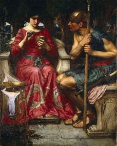 Jason and Medea, 1907, by John William Waterhouse. PD-US, Wikimedia.