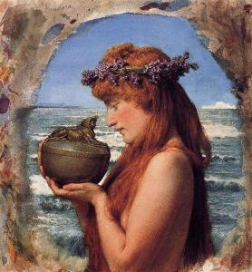Pandora, 1881, by Sir Lawrence Alma-Tadema. PD-US, Wikimedia.