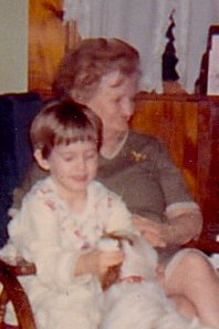 Wee bitty Jamie with Nani (Anabel).