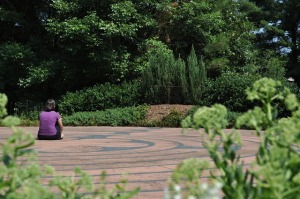 Woman and Labyrinth. PD image from pd4pic.